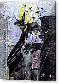 Bat-dog Caricature  Acrylic Print