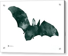 Bat Minimalist Watercolor Painting For Sale Acrylic Print