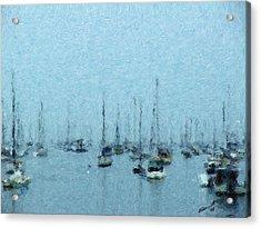 Bateaux Au Repos Acrylic Print by Eddie Durrett
