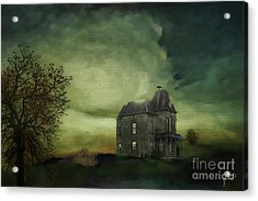 Acrylic Print featuring the mixed media Bates Residence by Jim  Hatch