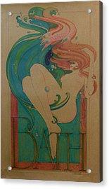 Bath Acrylic Print by Gary Kaemmer