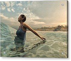 Bather Acrylic Print by Cynthia Decker