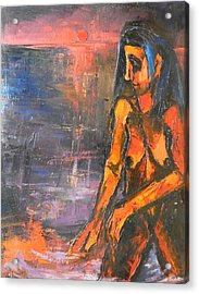 Acrylic Print featuring the painting Bather by Kenneth Agnello