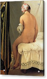 Bather Of Valpincon Acrylic Print by Jean-August-Dominique Ingres