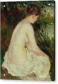 Bather Acrylic Print by Pierre Auguste Renoir