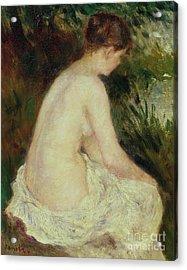 Bather Acrylic Print by Pierre Auguste Renoir