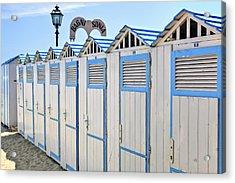 Bathhouses In The Mediterranean Acrylic Print by Joana Kruse
