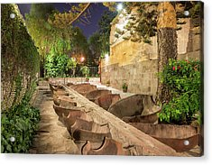 Bathing Area In Santa Catalina Monastery Acrylic Print by Jess Kraft
