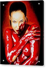 Bathing In Arrogance Acrylic Print by Al  Molina