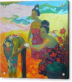Bathing1 Acrylic Print by Tung Nguyen Hoang
