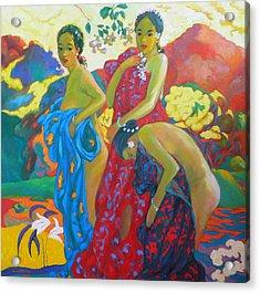 Bathing4 Acrylic Print by Tung Nguyen Hoang