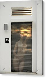 Bathroom Door Nude Acrylic Print