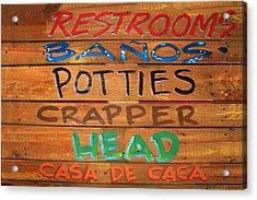 Bathroom Sign Acrylic Print