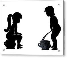 Bathroom Silhouettes Acrylic Print