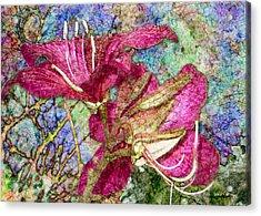 Batik Lilies Acrylic Print