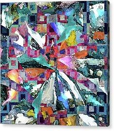 Batik Overlay Acrylic Print
