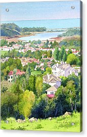 Batiquitos View Acrylic Print by Mary Helmreich