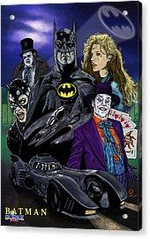 Batman 1989 Acrylic Print by Joseph Burke