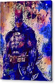 Acrylic Print featuring the mixed media Batman by Al Matra