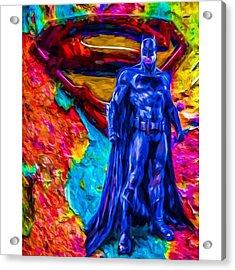#batman #batmanvsuperman #dc #dccomics Acrylic Print