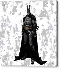 Acrylic Print featuring the mixed media Batman Splash Super Hero Series by Movie Poster Prints