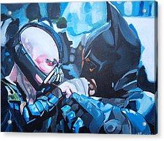 Batman Vs Bane Acrylic Print by Martin Putsey
