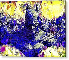Acrylic Print featuring the mixed media Batman 2 by Al Matra
