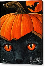 Bats In The Belfry  Acrylic Print by Linda Apple
