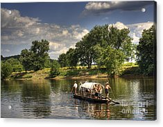 Batteau On The James River Acrylic Print by Pete Hellmann
