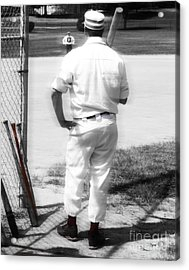Batter On Deck  Acrylic Print by Steven Digman