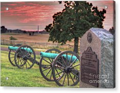 Battery F Cannon Gettysburg Battlefield Acrylic Print by Randy Steele