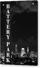 Battery Park Cleveland Skyline Acrylic Print