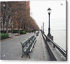 Battery Park Acrylic Print by Michael Peychich