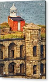 Acrylic Print featuring the photograph Battery Weed At Fort Wadsworth Nyc by Susan Candelario