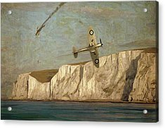 Battle Of Britain Over Dover Acrylic Print