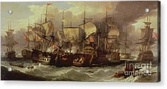 Battle Of Cape St Vincent Acrylic Print by Sir William Allan