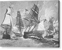 Battle Of Chesapeake Bay Acrylic Print