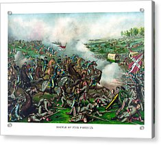 Battle Of Five Forks Acrylic Print