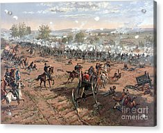 Battle Of Gettysburg Picketts Charge Acrylic Print by Science Source