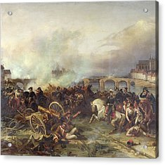 Battle Of Montereau Acrylic Print