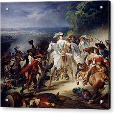 Battle Of Rocroy Acrylic Print by Francois Joseph Heim
