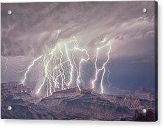 Battle Of The Gods Acrylic Print