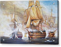 Battle Of Trafalger Acrylic Print
