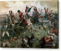 Battle Of Waterloo Acrylic Print by William Holmes Sullivan