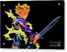 Acrylic Print featuring the digital art Battle Stance Trunks by Ray Shiu