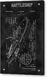 Battleship Patent Acrylic Print
