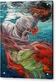 Acrylic Print featuring the painting Batyam by Mia Tavonatti