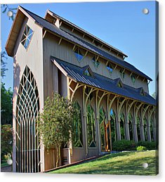 Acrylic Print featuring the photograph Baughman Meditation Center - Outside by Farol Tomson