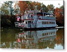 Acrylic Print featuring the photograph Bavarian Belle Riverboat by LeeAnn McLaneGoetz McLaneGoetzStudioLLCcom
