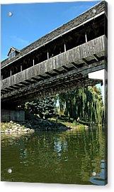 Acrylic Print featuring the photograph Bavarian Covered Bridge by LeeAnn McLaneGoetz McLaneGoetzStudioLLCcom